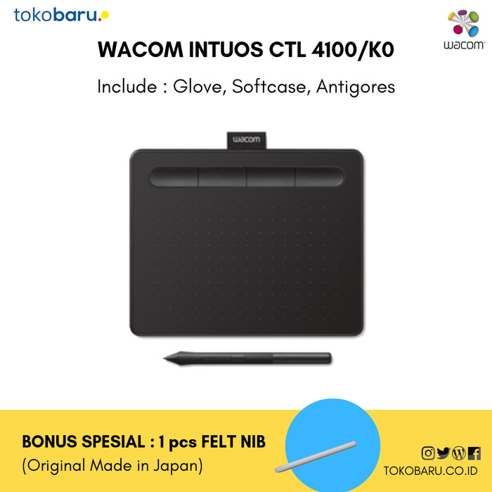 harga Wacom intuos ctl-4100 pressure level 4096 garansi resmi Tokopedia.com