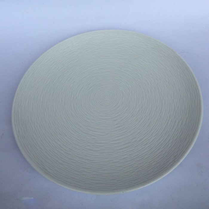 Foto Produk Salad Plate   Piring Saji Swirl White   Piring Hias  Ekspor Murah dari GALAXY HouseholdCeramics