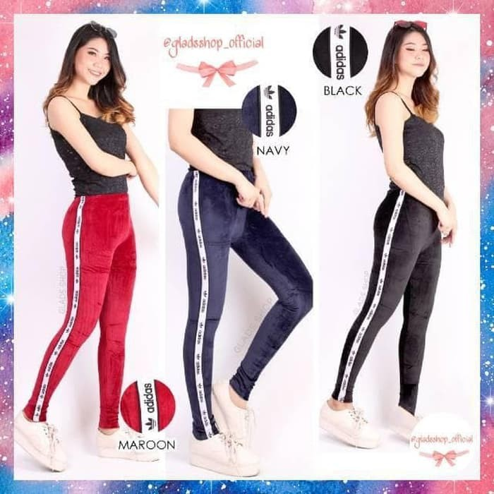 Jual Legging Celana Legging Legging Bludru List Import Fashion Wanita Jakarta Utara Rafa Fashion Tokopedia