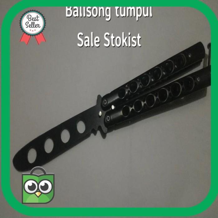 Foto Produk Termurah Pisau lipat balisong tumpul butterfly knife Terlaris dari VGA JAYA