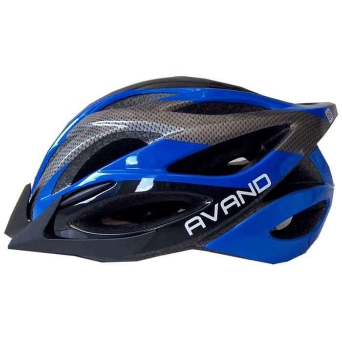 Foto Produk Helm Sepeda Avand Biru Hitam List Real Picture dari CettaBaik mulia