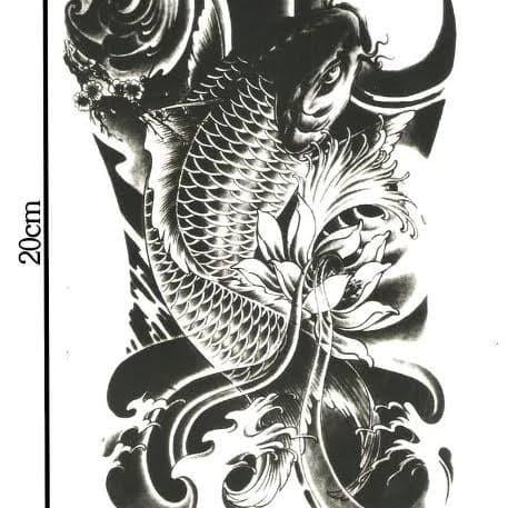 Jual Tato Temporer Disain Ikan Koi Kab Banjarnegara Riattato Tokopedia