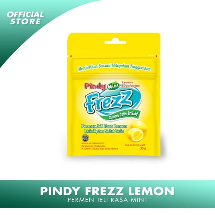 Foto Produk PINDY MINT FREZZ RASA LEMON Permen Jelly Rasa Lemon dari IUOfficialStore