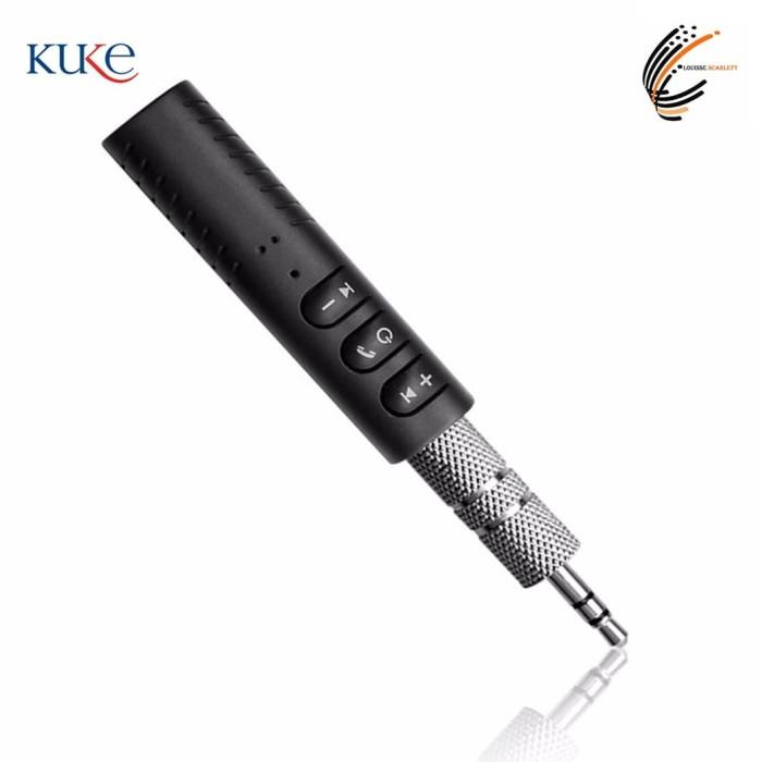 Foto Produk Bluetooth Wireless Audio Receiver Audio Jack Music - Hitam dari KUKE