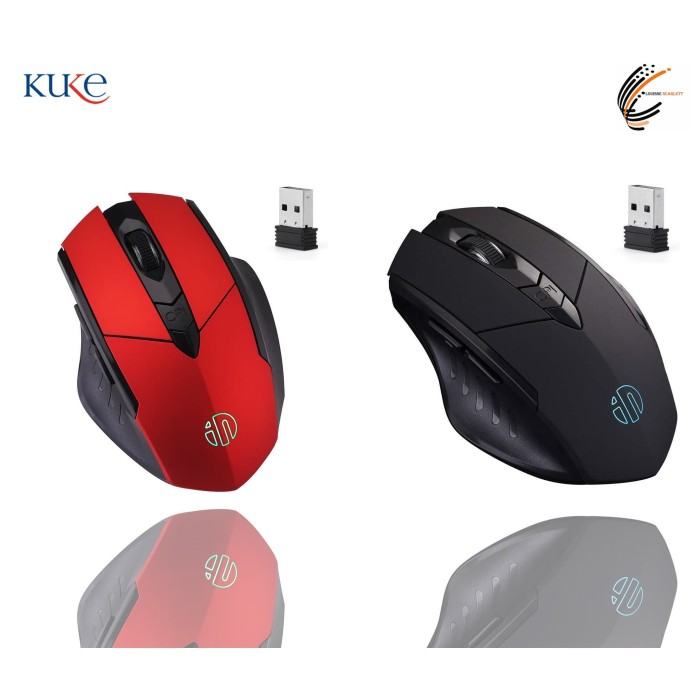 Foto Produk Mouse Wireless GAMING INPHIC Rechargeable USB Power Saving Inphic P-M6 - Merah dari KUKE