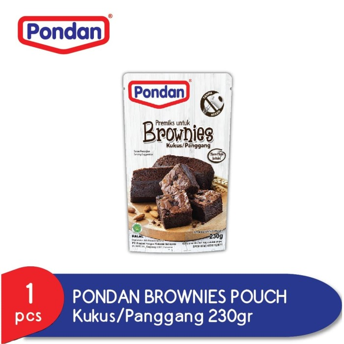 Foto Produk PONDAN Brownies Kukus Panggang Pouch 230 gr dari Pondan Food