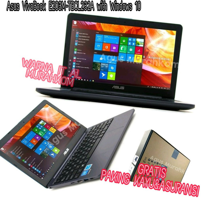 Foto Produk PROMO Asus VivoBook E203M-TBCL232A INTEL N4000 with Windows 10 RAM dari Go Cam