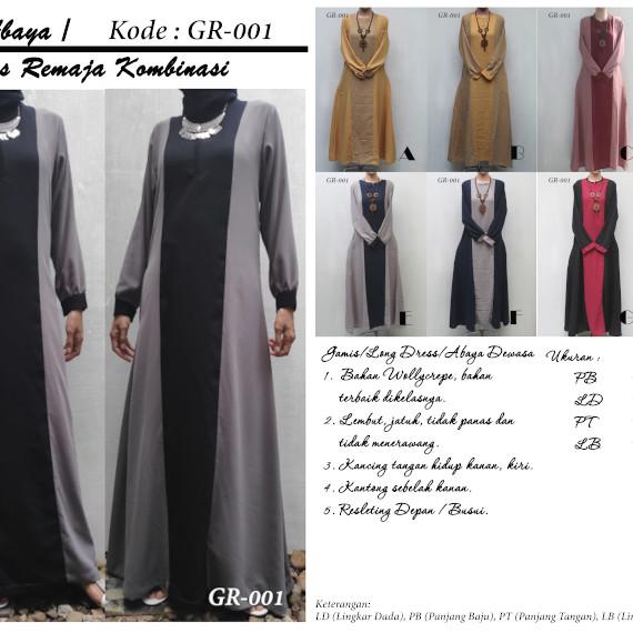 Jual Gr001 Gamis Long Dress Abaya Remaja Wollycrepe Kota Depok Altis2018 Tokopedia