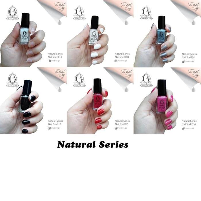Foto Produk MADAME GIE Nail Shell Peel Off Set (Isi 6 botol) - Natural Series dari DBShop