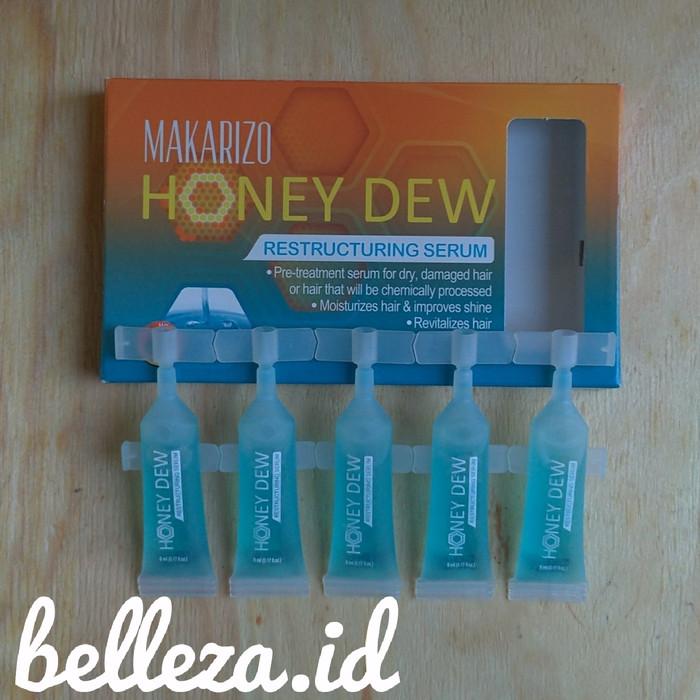 harga Makarizo honeydew restructuring serum 5x5ml rambut rusak Tokopedia.com