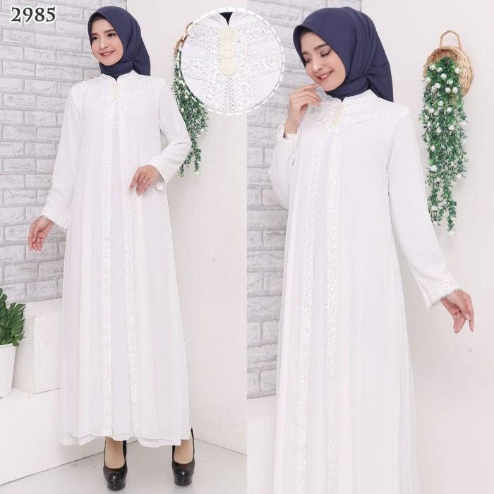 Foto Produk Gamis Putih Premium / Gamis Lebaran / Gamis Syari / Gamis Pesta 2540 - Putih, XXL dari Hitjab & Co