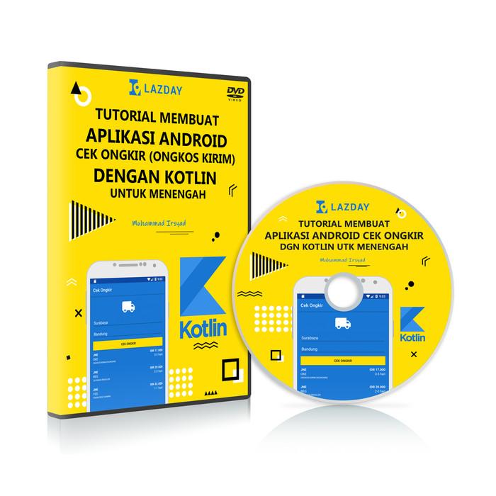Foto Produk DVD Tutorial membuat Aplikasi Android Cek Ongkir dengan Kotlin dari warung belajar