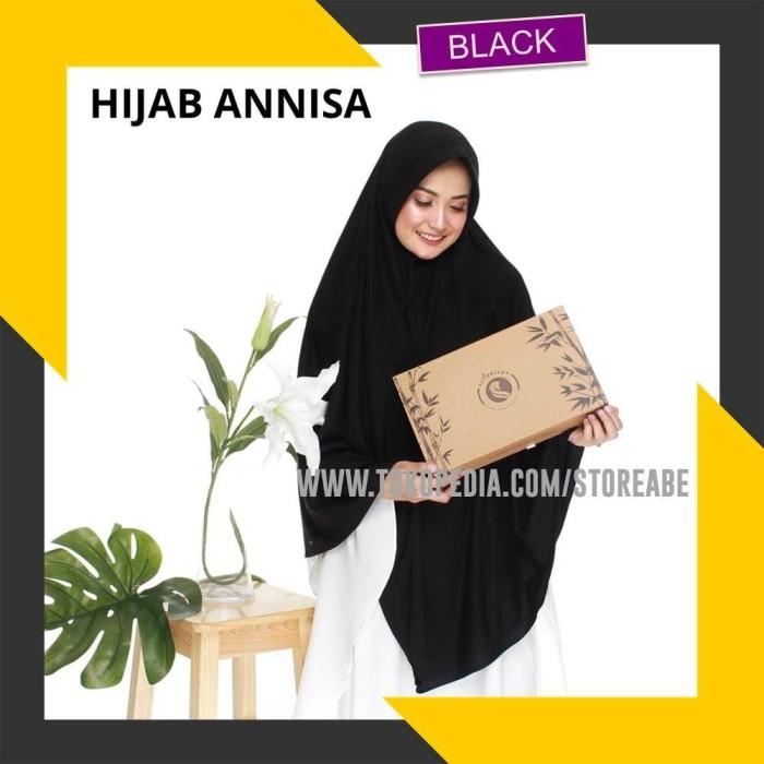 Foto Produk Hijab instan syar'i Hijab Annisa Terapi Kesehatan 100% ORI - BLACK - Navy Blue dari STORE ABE