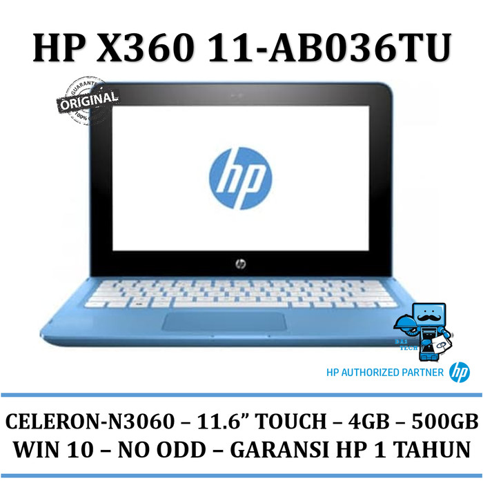 harga Notebook hp x360 11-ab036tu - intel dual core n3060-4gb Tokopedia.com