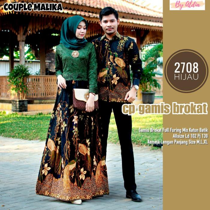 harga Couple malika baju batik sarimbit bahan katun mix brukat by aldia Tokopedia.com