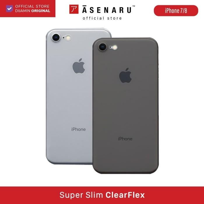 Foto Produk ASENARU iPhone 7/8 Case - Super Slim ClearFlex Case - Raven Black dari Asenaru Official Store