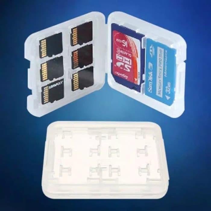 Foto Produk Box Pelindung Memory Card 8 Slot Micro SD TF SDHC MSPD dari Grosir Aksesoris Kamera