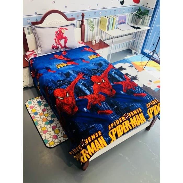 Jual selimut spiderman #selimut bulu #selimut anak ...