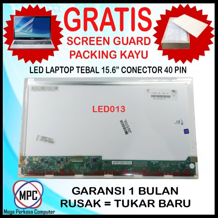 Foto Produk LCD LED LAPTOP 15.6 INCH TEBAL CONECTOR 40 PIN dari Mega Perkasa Computer