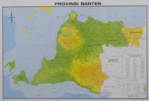 Jual Peta Provinsi Banten Lipat Jakarta Timur Admad Sell Tokopedia