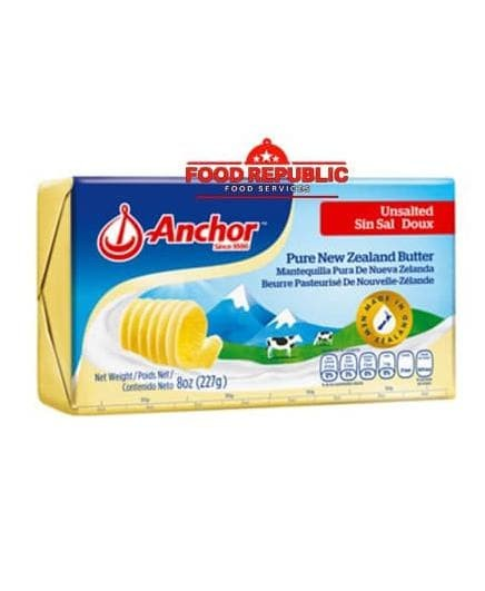Foto Produk Anchor Unsalted Butter 227 GR Halal Enak Import New Zealand Premium dari Kaesa Store_