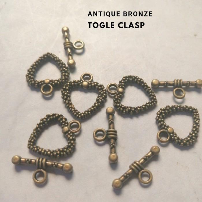 Foto Produk Togle Clasp Antique Bronze Heart dari Studio Manik