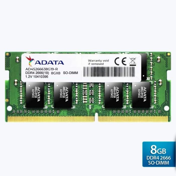 Foto Produk ADATA Premier DDR4 2666MHz 8GB SO-DIMM RAM DDR4 8GB PC-2666 SODIMM dari SMC shop