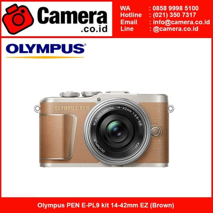 harga Olympus pen e-pl9 kit 14-42mm ez (brown)+ 25mm f/1.8 Tokopedia.com