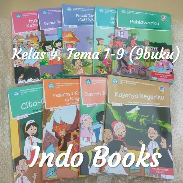 Jual Paket Lengkap Tematik Sd Kelas 4 Semester 1 2 Tema 1 9 9 Buku Revisi 2 Kota Surabaya Akserone Tokopedia