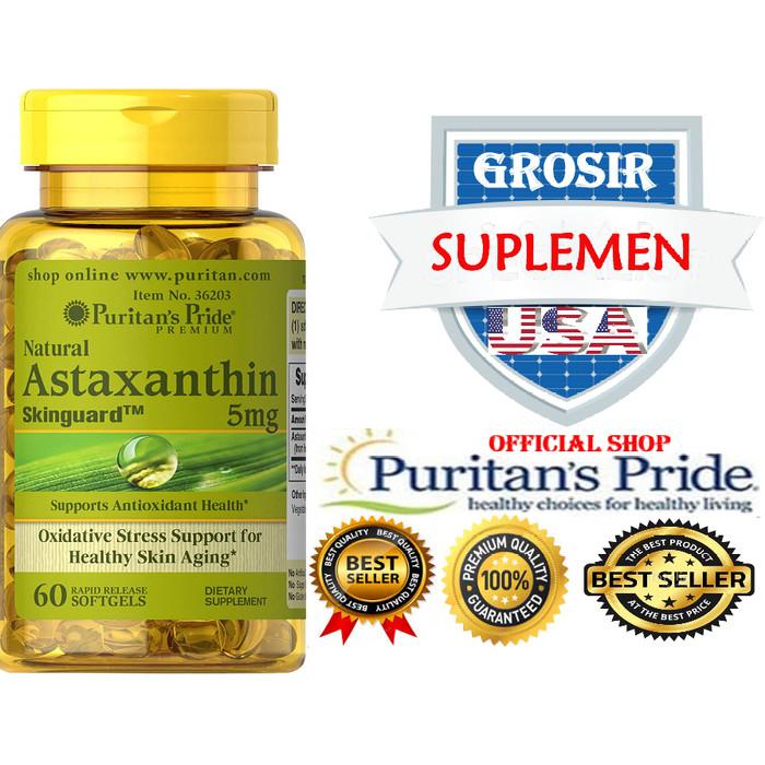 harga Astaxanthin natural impor usa anti aging puritan isi 60 Tokopedia.com