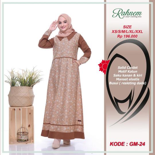 Jual Rahnem Gm 24 Mocca Dress Wanita Xs Sidoarjo Annisa Collection Tokopedia