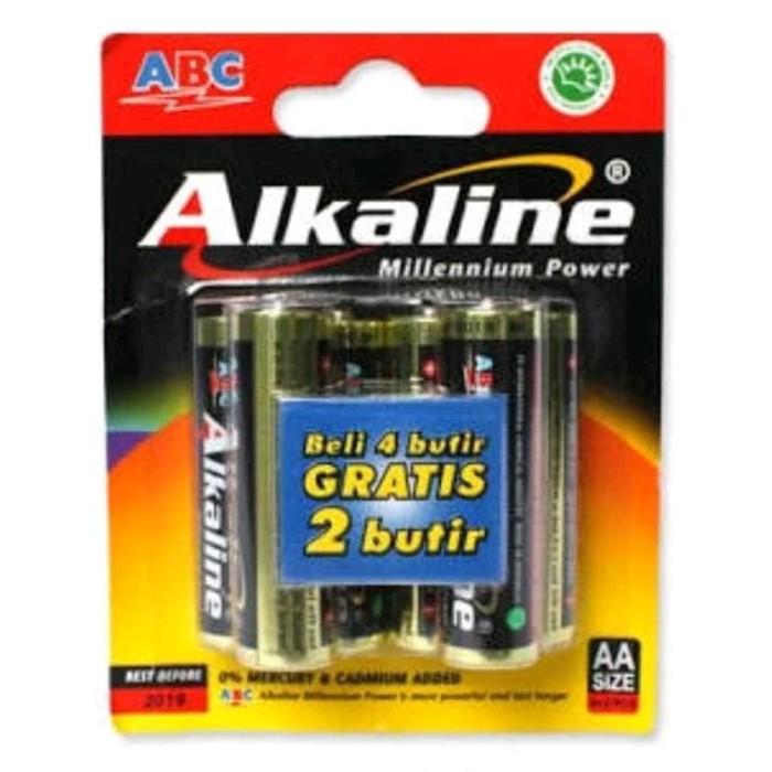 Foto Produk Baterai ABC Alkaline AA / A2 LR6 1.5V 4+2 Battery Original dari matahari terang prima