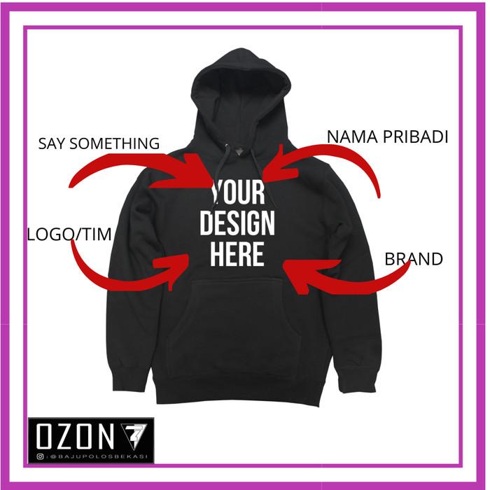 Jual Sweater Jaket Polos Hoodie Jumper Custom Desain Kata2 Sendiri Kota Bekasi Ozon Clothing Tokopedia