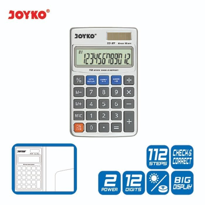 harga Calculator / kalkulator joyko cc-37 / 12 digits / check correct Tokopedia.com