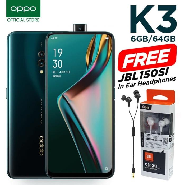 harga Oppo k3 [6gb / 64gb] free jbl c150si - garansi resmi - pearl white Tokopedia.com