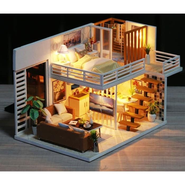 Jual Miniatur Rumah Boneka DIY Doll House Wooden Furniture ...