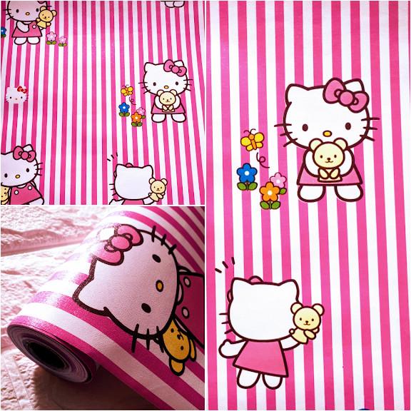 Jual Grosir Murah Wallpaper Stiker Dinding Hello Kitty Salur Pink Putih Jakarta Utara Gibran Jaya22 Tokopedia