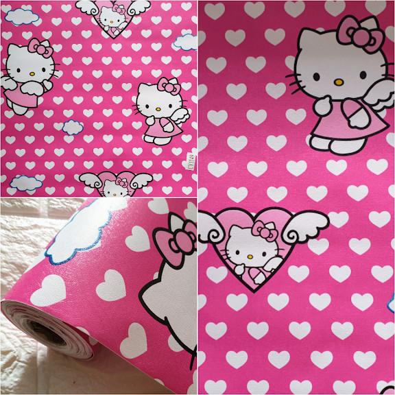 Grosir Murah Wallpaper Stiker Dinding Karakter Hello Kitty Pink Love Spesial Promo Termurah Wallpaper Dinding 10