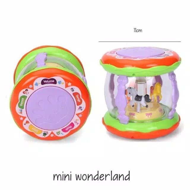 harga Edufuntoys - mini wonderland merry go round / baby drum music Tokopedia.com