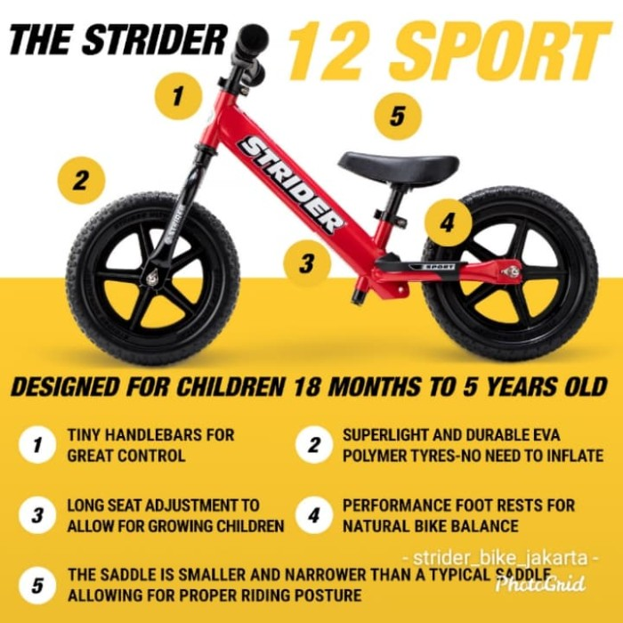 Foto Produk Push bike - balance bike - strider - no pedals bike dari Metalkids milk & baby