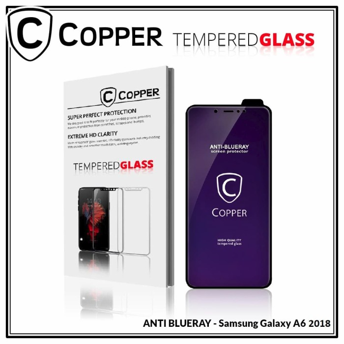 harga Samsung galax a6 - copper tempered glass anti-blueray (full glue) Tokopedia.com