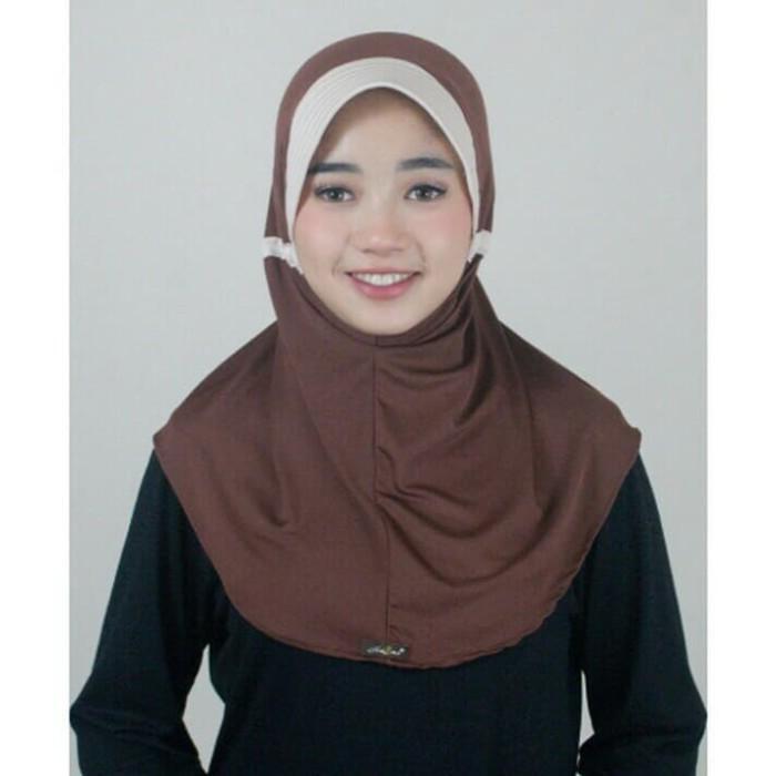 Jual Kerudung Naura 010 Hijau Tua Kota Serang Shasmira Fashion Tokopedia