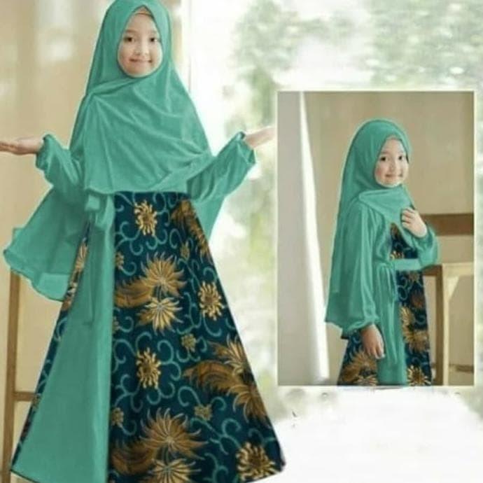 Jual Baju Gamis Anak Perempuan Muslim Baloteli Kombinasi Batik Prada Jakarta Barat Juwita Storee Tokopedia