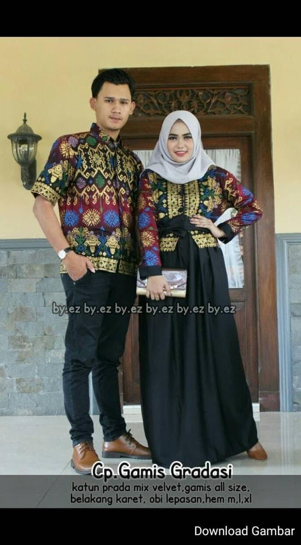 Jual BAJU BATIK COUPLE SARIMBIT KELUARGA GAMIS COMBI VELVET - DKI Jakarta -  erika shop10  Tokopedia