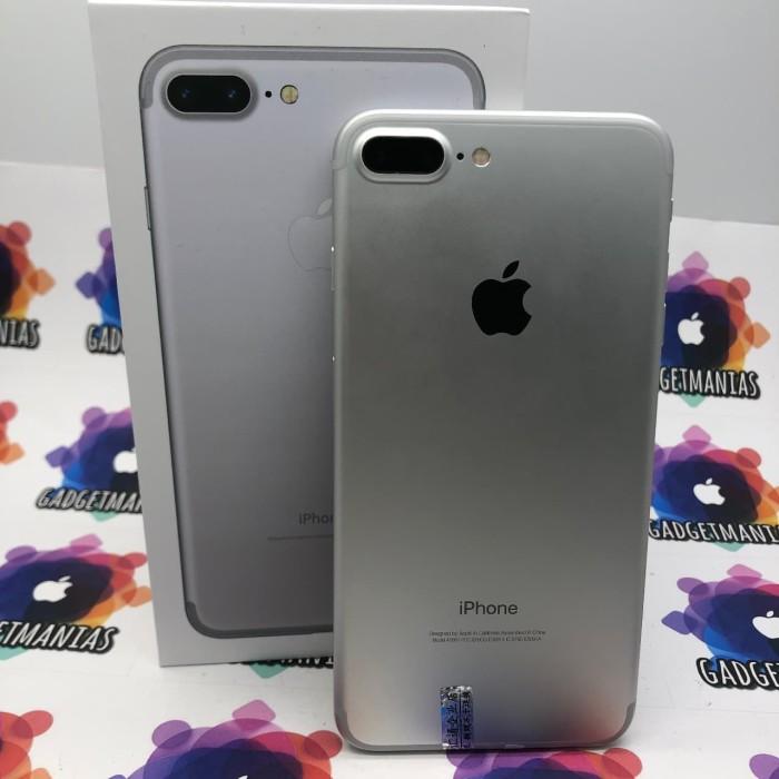 Foto Produk IPhone 7 plus 128gb silver second ex inter fullset mulus dari gadgetmanias