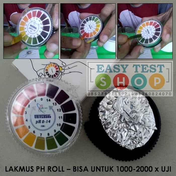 Foto Produk Kertas Lakmus pH Rol 1-14 Roll Universal pH Paper Check Tes Kit Air dari Sooper Shop