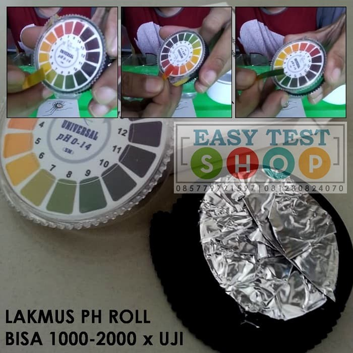 Foto Produk Kertas Lakmus pH Rol 1-14 Roll Universal pH Paper Check Test Kit Air dari Sooper Shop
