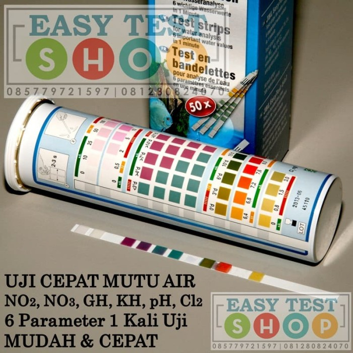 Foto Produk JBL Easy Test 6in1 NO2 NO3 GH KH pH Cl2 Tes Kit - Teskit Uji Mutu Air dari easytest
