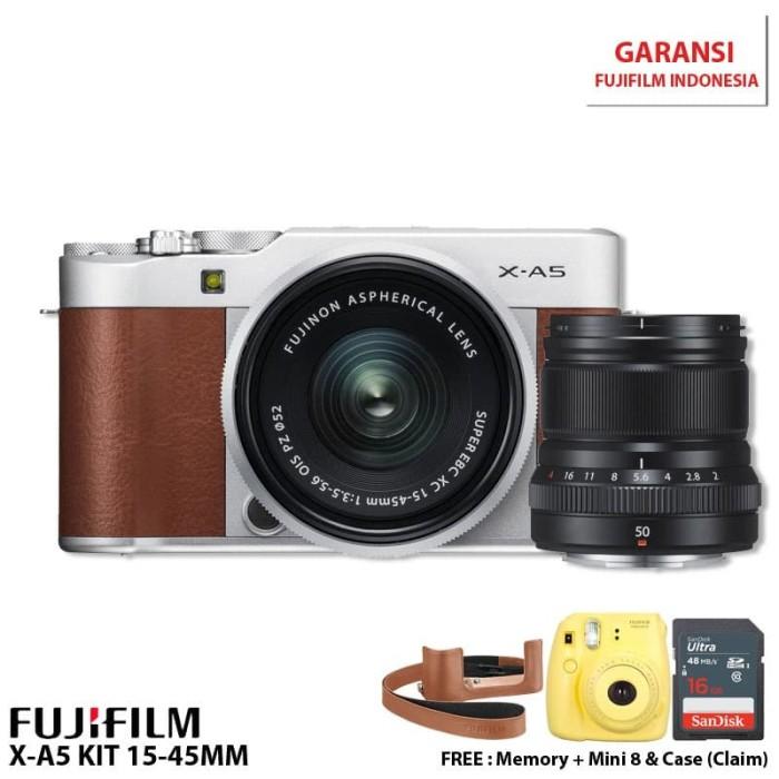 harga Fujifilm x-a5 kit 15-45mm pwp xf50mm f2 - pink Tokopedia.com