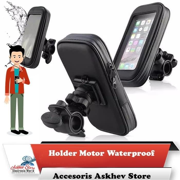 harga Holder sepeda motor waterproof 5.5 inch for gojek grab uber dll Tokopedia.com